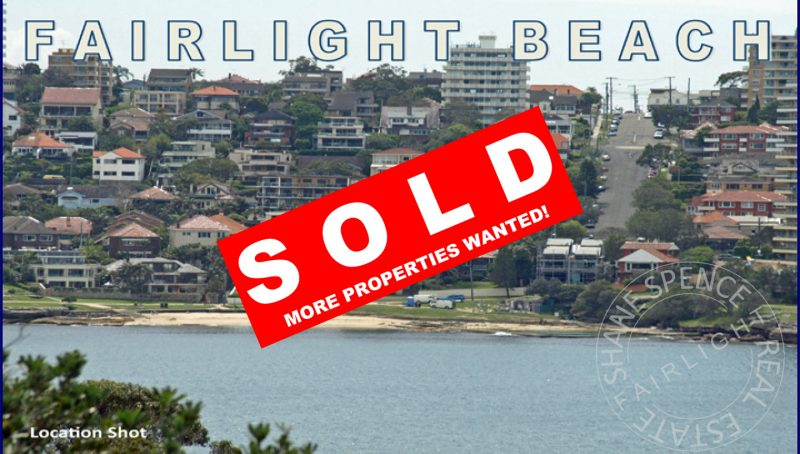 Fairlight Sold Unit Manly