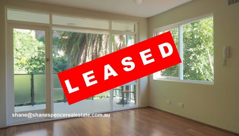 Manly unit leased rent beach real estate shane spence